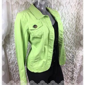 CHRISTOPHER & BANKS | Spring Green Denim Jacket